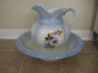 Blue Pitcher and Basin