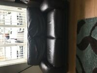 2 x 3 seater DFS Brown Leather Sofas