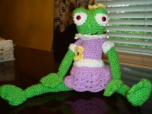 Cute toy for Baby,  Adorable Girl Frog - crocheted by Ana Tricot