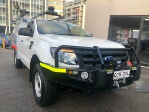 2013 Ford Ranger PX XL 3.2 (4x4) White 6 Speed Manual Super Cab Chassis North Strathfield Canada Bay Area Preview