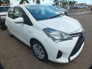 2015 Toyota Yaris NCP130R MY15 Ascent Glacier White 5 Speed Manual Hatchback Bohle Townsville City Preview