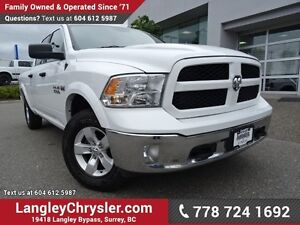 2017 RAM 1500 SLT ACCIDENT FREE w/ 4X4, LEATHER UPHOLSTERY &...