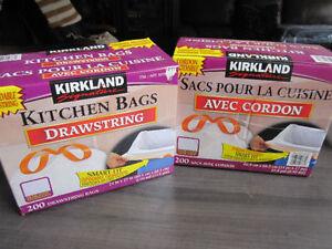 """Kitchen Bags, Drawstring, Kirkland, 200 in pks..24"""" x 27"""""""