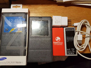 Samsung Note 4 Unlocked - 32gb black - MANY extras