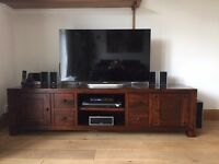 Lovely dark wood TV stand for sale