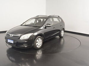 2010 Hyundai i30 FD MY10 SX cw Wagon Black 4 Speed Automatic Wagon Welshpool Canning Area Preview