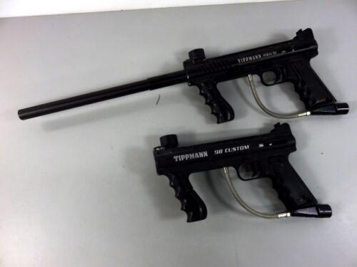 Tippmann Model 98 and 98 Custom Paintball Marker Pistols - LOT