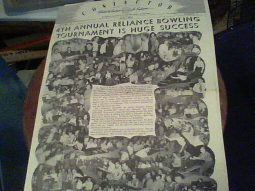 April 1952 Contactor Reliance Electric newsletter Ashtabula Bowling Tour. pics