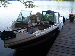 2007 Princecraft Pro 166 with 90 HP Mercury 4 stroke and trailer