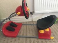 Disney cars steering wheel and pedals