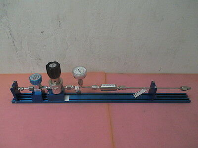Kinetics high purity gas stick, APTECH AP1006SM regulator, SPAN gauge, Parker