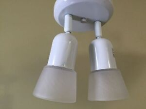 EXCELLENT CONDITION WHITE LIGHT WITH TWO HEADS!
