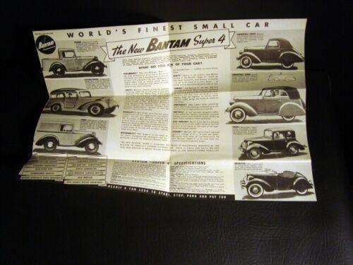 Circa 1940s Bantam Super 4 Sales Brochure