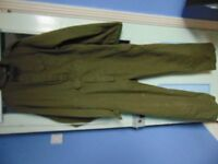Pair of Mens Olive Green Coveralls Size 170 Height 108 Chest