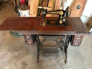 Antique Singer Sewing Machine and Ironing Board for sale