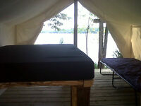 Luxury Lakeside Tenting Adventure on Rice Lake! Call TODAY!