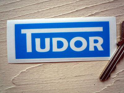 TUDOR Windscreen Washer Bottle STICKER Classic Car Blue Jaguar Screen Wash MG