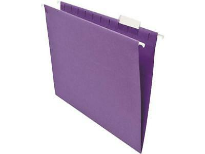 Universal Hanging File Folders 15 Tab 11 Point Stock Letter Violet 25box