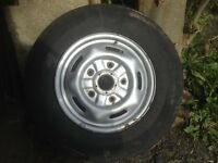 Ford transit wheel and tyre mk7. good tyre 16""