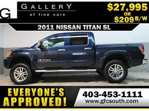 2011 NISSAN TITAN SL LIFTED *EVERYONE APPROVED* $0 DOWN $209/BW