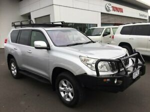2012 Toyota Landcruiser Prado KDJ150R 11 Upgrade Altitude (4x4) Silver Pearl 5 Speed Sequential Auto Sale Wellington Area Preview