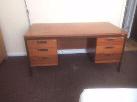 Strong wooden office desk