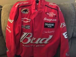 XL Budweiser Dale Earnhardt jacket.Autographed by Mario Andrett