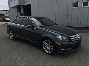 2013 MERCEDES BENZ C300 4MATIC LEATHER SUNROOF 65KM