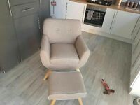 Chair and pouffe