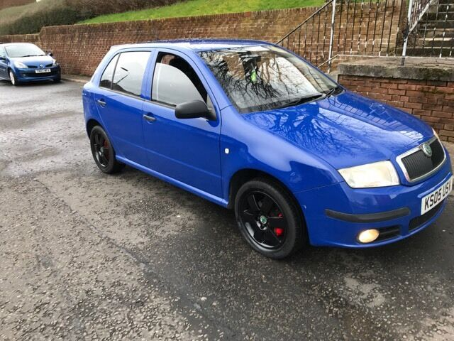 skoda fabia sport for swapin Paisley, RenfrewshireGumtree - skoda fabia sport 1400cc 2005 plate moted mid sept dis 80200 miles fsh loads new parts with proof cl pas abs ew 6 disc black alloys ect open to swap other car must have mot