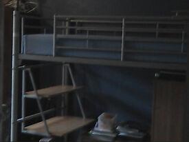 Free metal high bed
