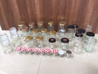 35 jars - storage jars/jam jars - collect from Fulham