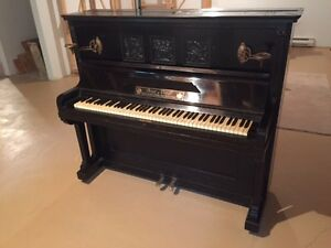 antique Bogs & Voigt upright piano
