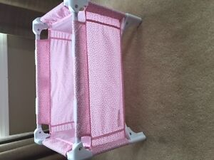 Corolle doll bed + changing table (retailed $70)