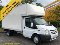 2012 12 Ford Transit 2.2Tdci 125 350EF Luton Box & Tail Lift DRW