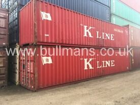 40ft standard shipping containers - CSC plated, steel container, site container for sale