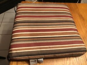 Patio Seat Cushions-Set of Four with Two Accent Pillows