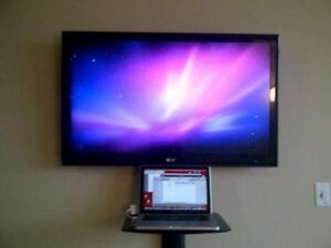 Secure Tv Wall Mounting with cable 416-668-1105