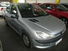2002 Peugeot 206 T1 MY02 XT Silver 5 Speed Manual Hatchback Kippa-ring Redcliffe Area Preview