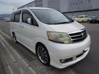 TOYOTA ALPHARD 2.4 AS APRIL 2003 8 SEATS HIGH GRADE 77,000 MILES ELEVATING ROOF
