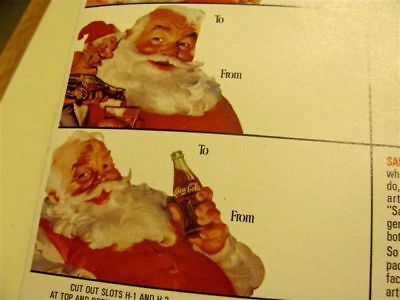 Coca Cola Christmas 1940-50s Cut Outs Package Decorations  - 50s Christmas Decorations