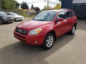 2007 Toyota RAV4 Limited 4WD, Accident Free, Leather, Sunroof