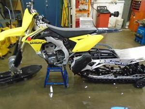 RM 450 EQUIPPED WITH A 2017 TIMBERSLED 120 KIT