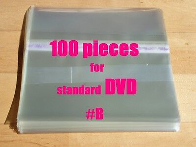Resealable Outer Plastic Sleeves for standard DVD 100  (type #B)