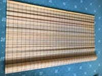 Large Wooden Roll-Up Blind.