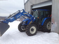 Tracteur New Holland T5070 2011, seulement 1200h