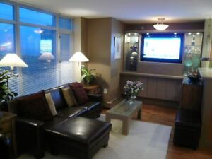 SPACIOUS 1 BEDROOM BEAUTIFULLY FURNISHED-COAL HARBOUR WATERFRONT