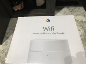 Google Whole Home Mesh Wi-Fi System Sealed Box, never opened