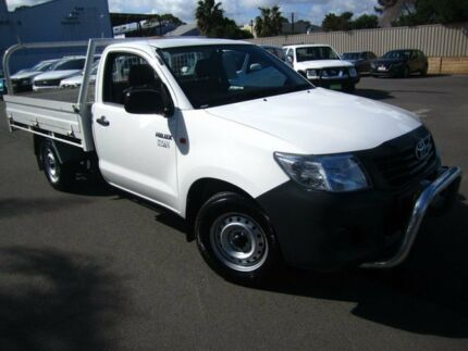 2013 Toyota Hilux TGN16R MY14 Workmate 4x2 Glacier White 5 Speed Manual Cab Chassis Melrose Park Mitcham Area Preview