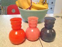 """3  Colors Vintage Kitchen Vases-""""Fifties"""".3 couleurs 1950."""